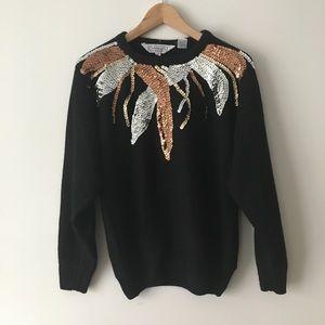 Vintage sequined sweater - medium